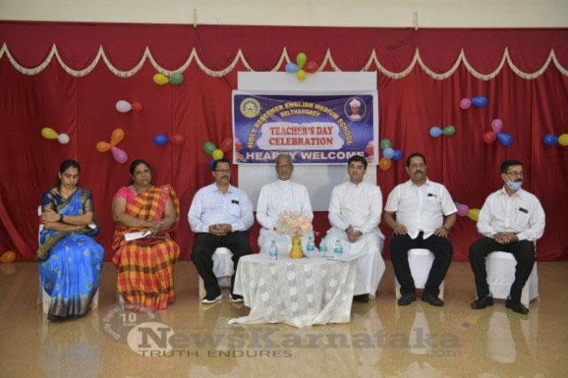 Celebration of Teachers Day in Holy Redeemer English Medium School Belthangady