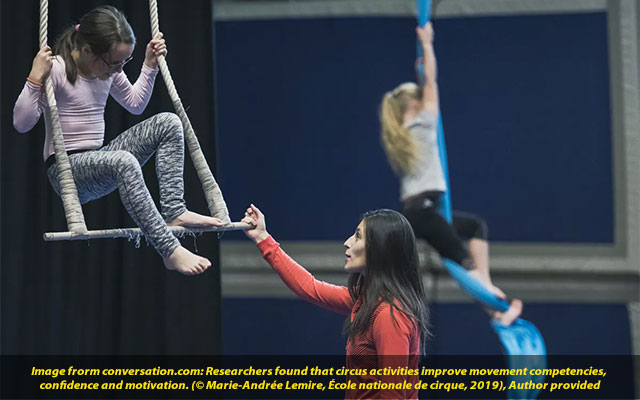 Taking the circus to school How learning trapeze and all in gym class helps kids
