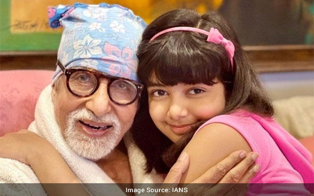 Aishwarya shares picture of Big B Aaradhya from his 79th bday
